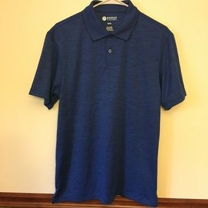 Haggar Clothing Blue Heathered Polo Shirt - Size M